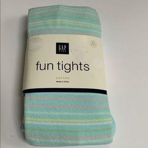 Aqua Multi Striped Knit Tights